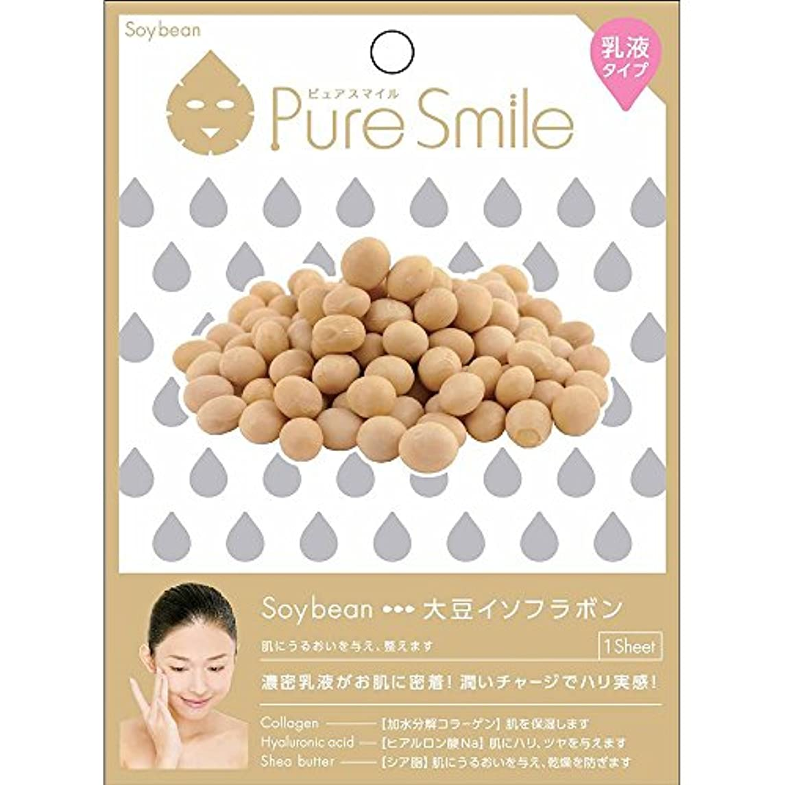 従順な機会メリーPure Smile(ピュアスマイル) 乳液エッセンスマスク 1 枚 大豆イソフラボン