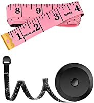 2 Pack 60-Inch Measuring Tape for Body Waist Fabric Tailor Cloth Sewing Knitting Craft Measurement, Fashion So