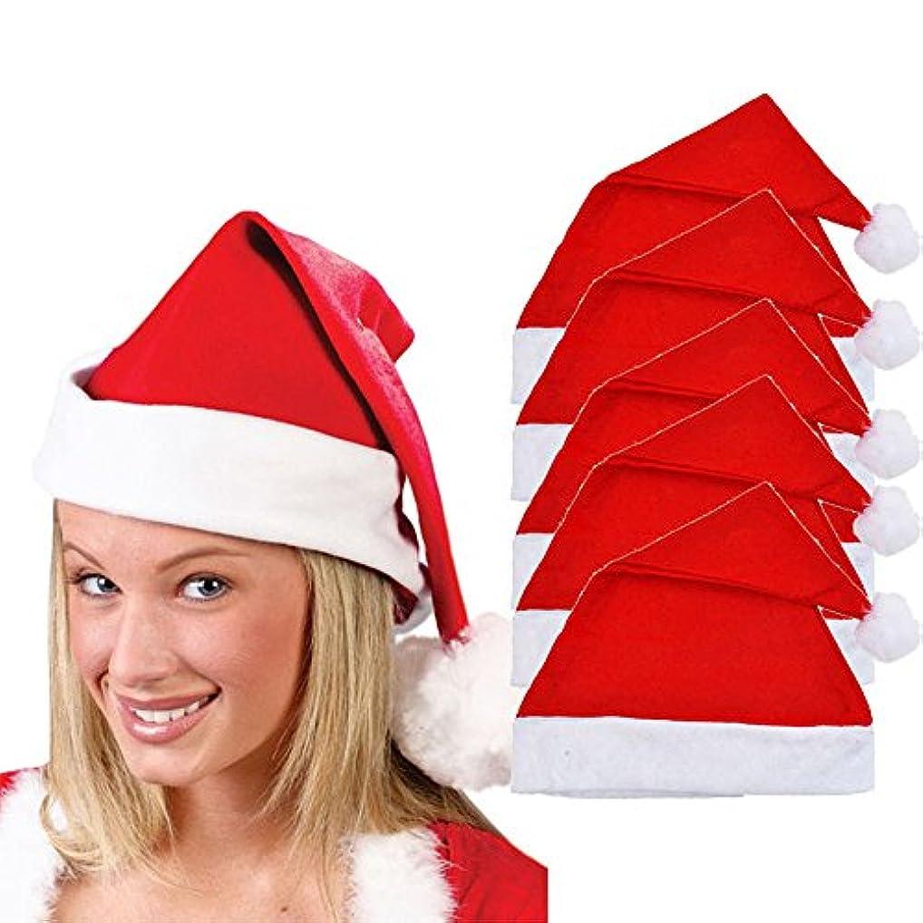 合計閉じるブルジョンRacazing クリスマスハット 5つの レッド Hat ライト ドームキャップ 防寒対策 通気性のある 防風 ニット帽 暖かい 軽量 屋外 スキー 自転車 クリスマス 男女兼用 Christmas Cap