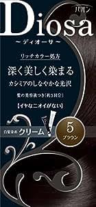 パオン ディオーサ クリーム 5 ブラウン 40g+40g 髪の美容液10g