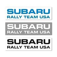 【 SUBARU 】 スバル ラリーチーム USA オフィシャル ステッカー (切文字3枚セット)
