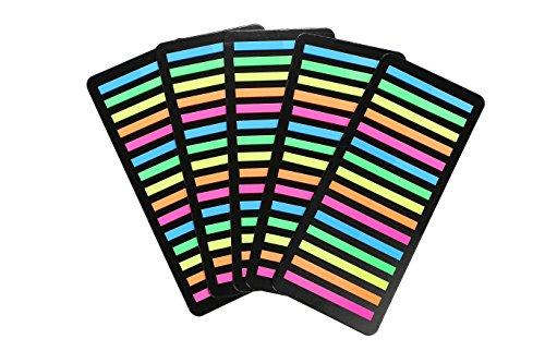 [해외]극세 스티커 5 색 300 매 × 5 세트 하의 문자가 비쳐 보이는 투명 필름 타입/Extremely fine clothes 5 colors 300 sheets × 5 sets Transparent film type letters underneath can be seen through