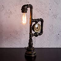 ZZXIA-テーブルランプ loft工業復古風の個性水管台灯バーカフェカウンター装飾クリエイターライト