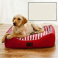 LilyAngel 完全に取り外し可能で洗える犬小屋の猫のトイレ砂のペット用マットレスのソファ (色 : レッド, サイズ : S)