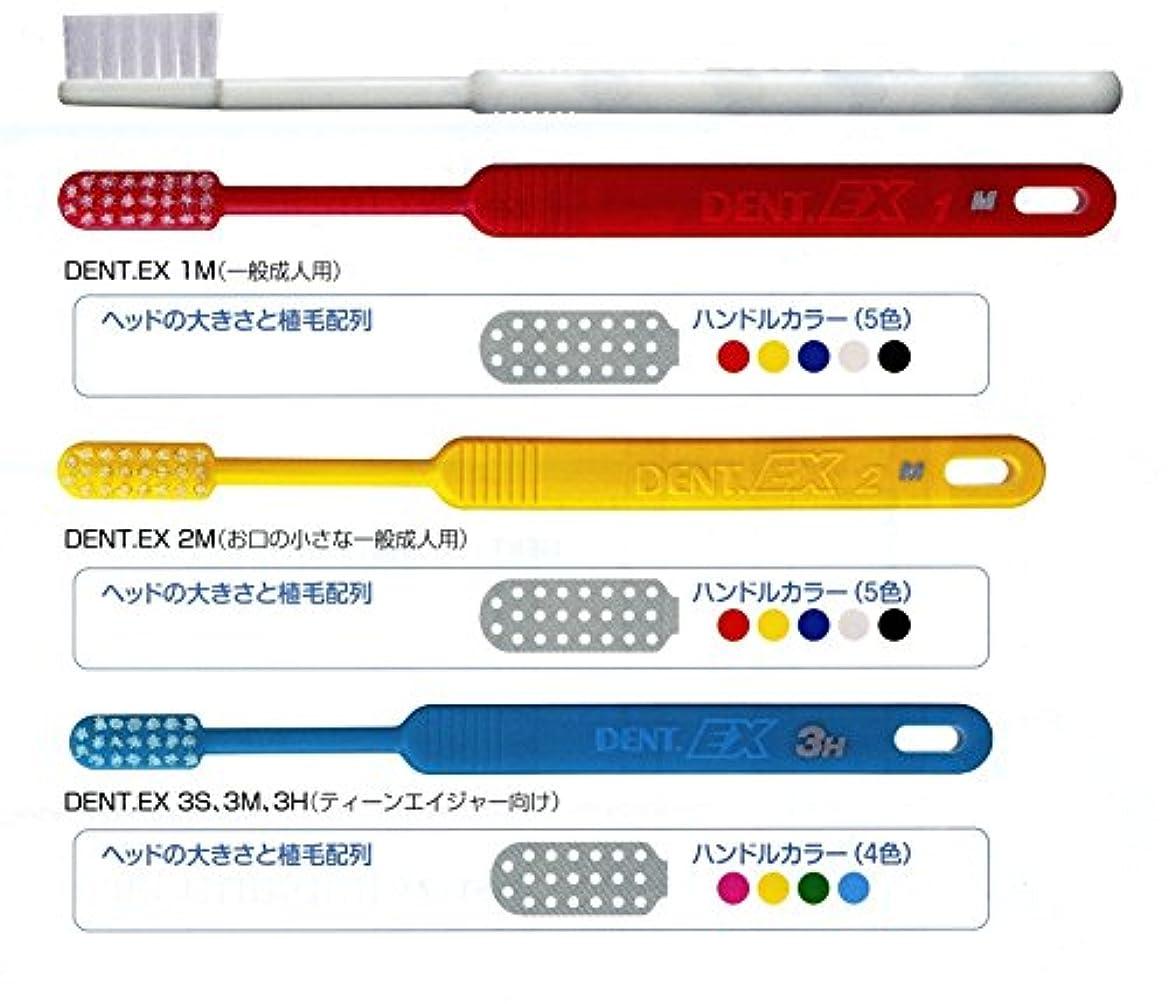 ライオン DENT . EX レギュラー 歯ブラシ 1本 2M イエロー