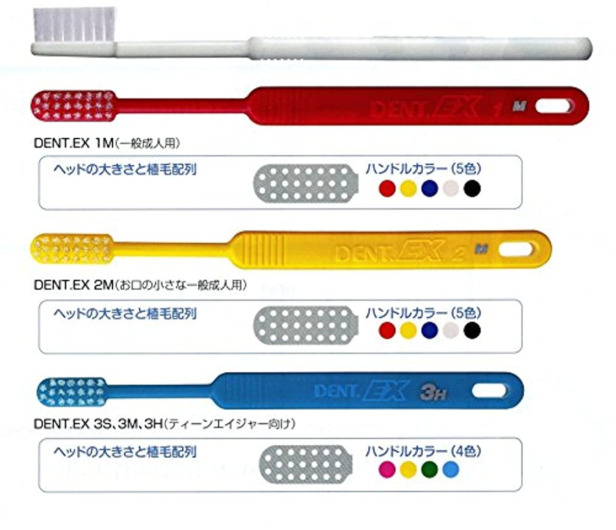 ライオン DENT . EX レギュラー 歯ブラシ 1本 2M レッド