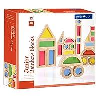 Guidecraft GD-3083 Jr. Rainbow Block (Pack of 40) [並行輸入品]