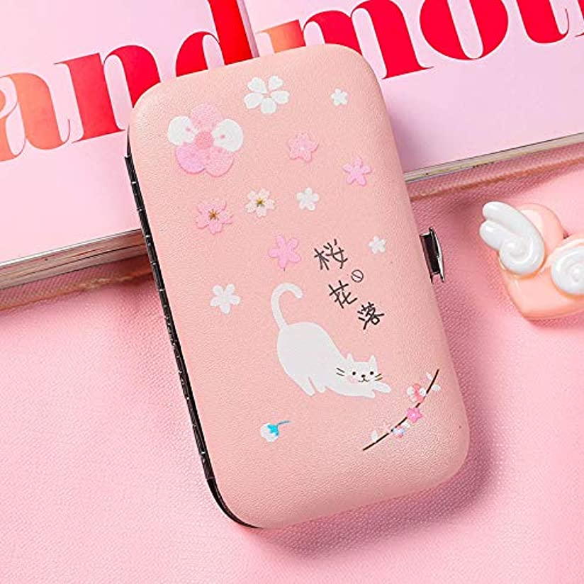 ケープサワー楽観的新鮮な爪の創造的な小さなはさみ6ピースセット大人の学生のための爪ツール女の子のためのピンクの爪カッター