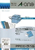 (まとめ買い) エーワン PPCラベル B4ノーカット 28208 【×3】