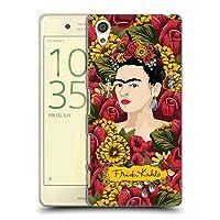 Official Frida Kahlo ポートレート・パターン レッド・フローラル ハードバックケース Sony Xperia X/X Dual