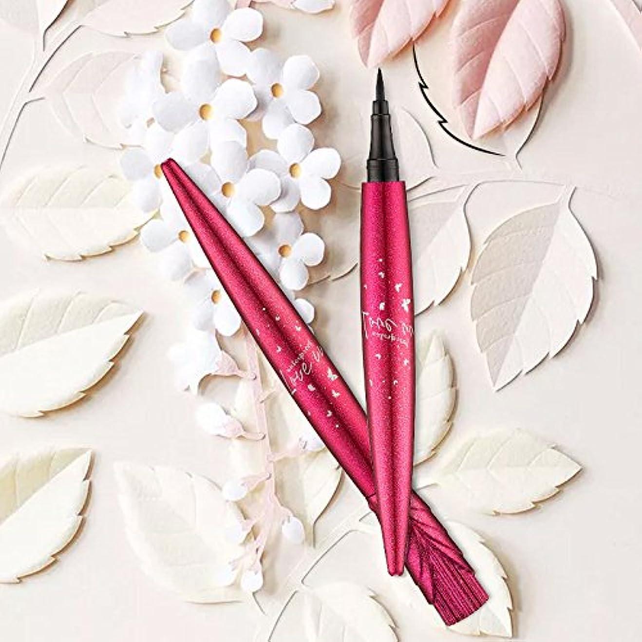 偽造バッフル頭美容ブラック防水アイライナーリキッドアイライナーペン鉛筆メイク化粧品新しい