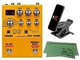 BOSS ボス - エフェクター/ハイブリッド ドライブ OD-200 + KORG Pitchclip 2 PC-2 + マークスオリジナルクロス セット