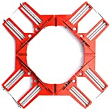 コーナークランプ 4個セット diy 工具 木工 溶接 直角 90度 最大固定幅74mm【SHOOTING】