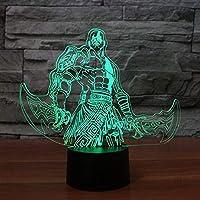 QIANDONG1 クリエイティブ 7色に変化 キッズ USB ギフト 3Dフィギュア モデリング デスクランプ LED アニメ ゲーム ナイトライト ベビー 睡眠 ランパラ 照明