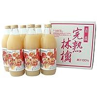 JAアオレン 完熟林檎 つがる 1L瓶 6本入 (2セット)