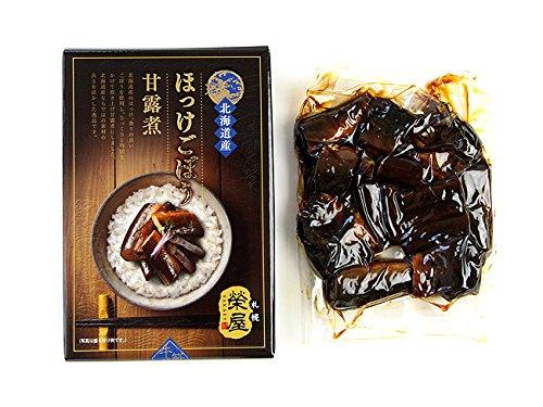 ほっけごぼう甘露煮化粧箱入 200g 北海道産のホッケ、香りの良いゴボウを使用し、じっくりと時間をかけて炊き上げ甘露煮にしました。