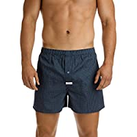 Mitch Dowd Coby Navy Printed Soft Wash Boxer