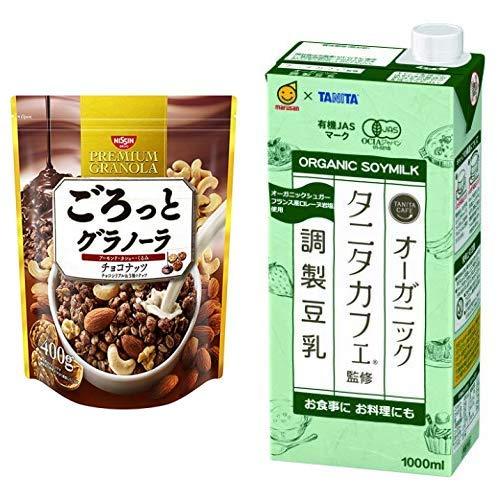 【セット買い】ごろっとグラノーラチョコナッツ400g 400gX6袋 + マルサン タニタ カフェ監修 オーガニック 調製豆乳 1000ml×6本