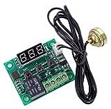 サーモ スイッチ XD-1029 温度計 デジタル 調整精度 温度センサー コード1m 電子 鰐口 クリップ 赤 黒 各1個 ターミナル 1個付
