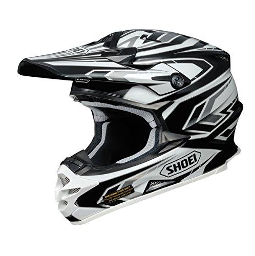 Shoei ショウエイ VFX-W BLOCK PASS Helmet 2015モデル オフロード ヘルメット ブラック/ホワイト/シルバー 2XL(63~64cm)