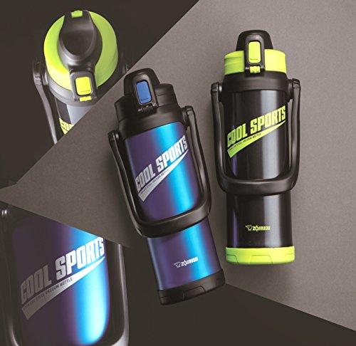 象印(ZOJIRUSHI)水筒直飲みスポーツタイプステンレスクールボトル2.0LグリーンブラックSD-BC20-BG