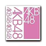 カッティングステッカーS [AKB48] 桃 001