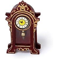 ドールハウステーブルクロック,SODIAL(R) 1/12 ドールハウス ミニチュアホールズクラシックテーブルクロック