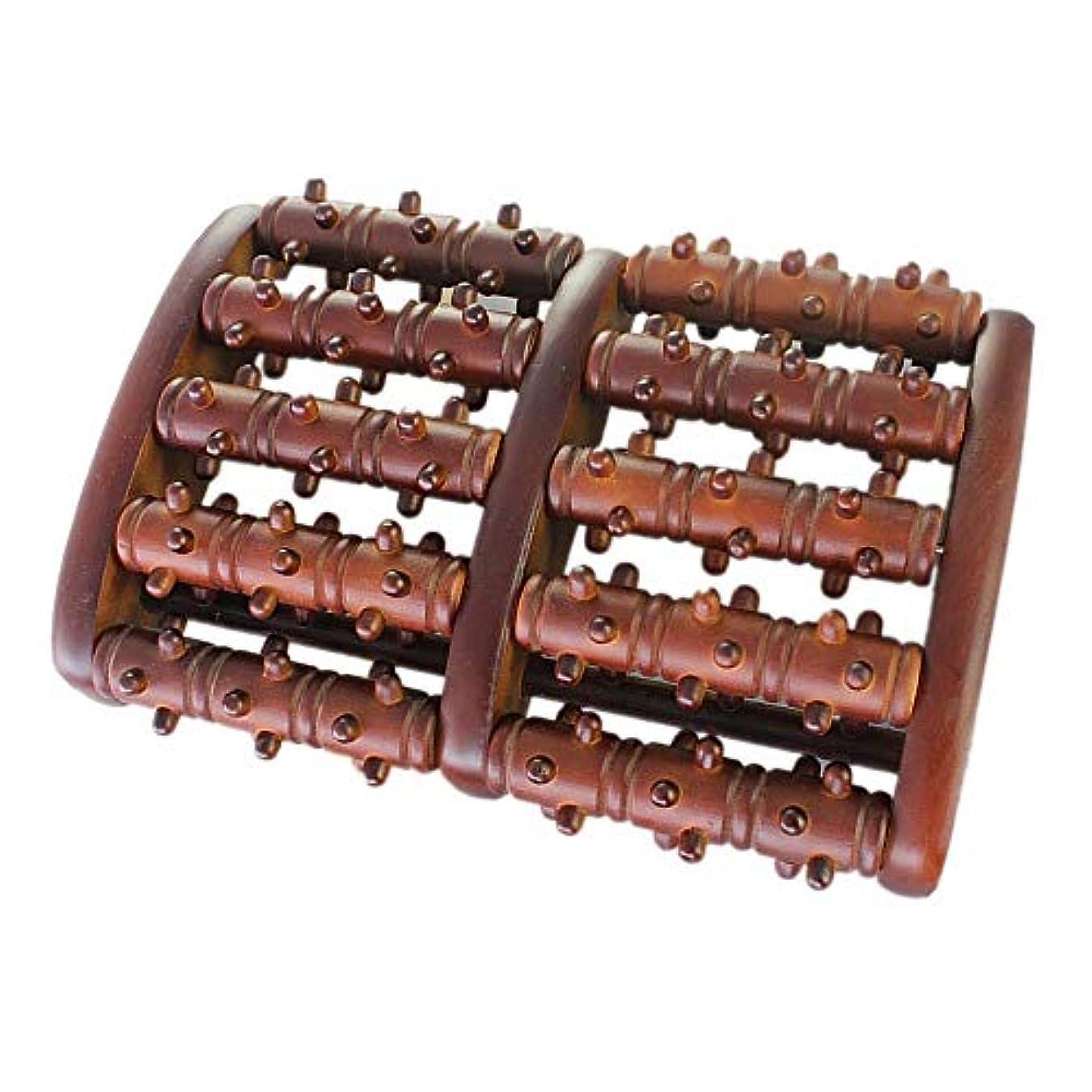障害デコラティブターミナル足裏マッサージローラー 靴底フットマッサージローラー大型デュアルマッサージローラーの木製フットマッサージャー五行 軽量で使いやすく、足の痛みを和らげます (Color : As picture, Size : 27.5x18x5cm)