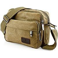 Oct17 Men's Vintage Canvas Crossbody Bag Shoulder Casual Handbag School Messenger