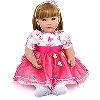 シミュレーション、赤ちゃん、人形、かわいい、プリンセスドレス、家族、睡眠を伴う、遊び、おもちゃ、リボーンボディシリコーンビニール人形22インチのフルアライブベビー実キッズのおもちゃ子供の誕生日ギフト