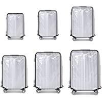 "Suitcase Cover Protectors Luggage Trolley Case Protector Clear PVC Waterproof Dust Proof Fit for 20"" 22"" 24"" 26""28"" 30"""