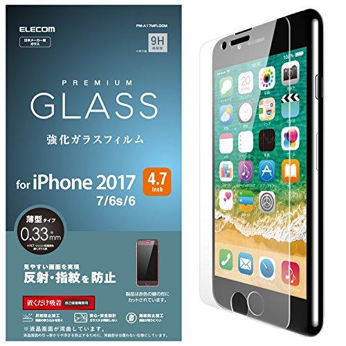 エレコム iPhone8/フィルム/ガラス/反射防止 PM-A17MFLGGM 1枚