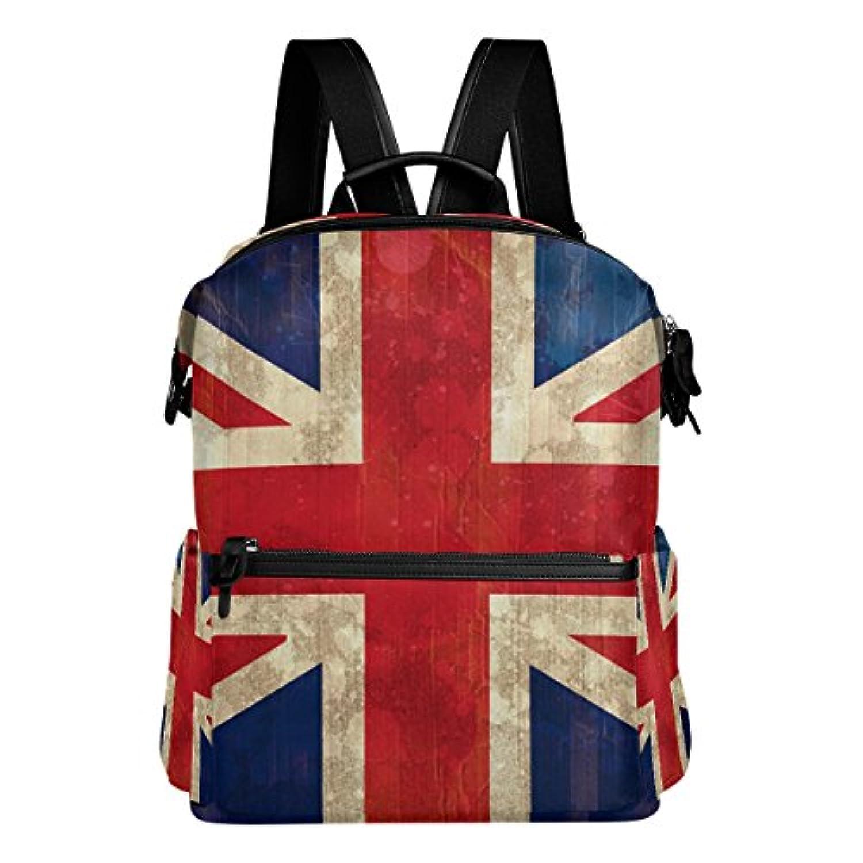 バララ(La Rose) リュックサック 高校生 子供 通学 大容量 かわいい イギリス 国旗 絵柄 リュック レディース 大人 おしゃれ 通勤 軽量 防水 キャンバス バッグ 学生 旅行 収納バック アウトドア デイパック