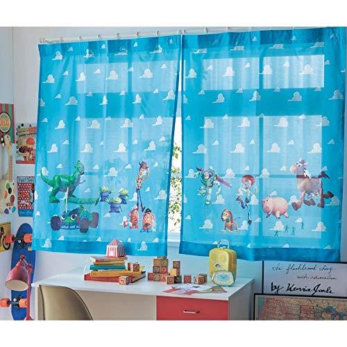 [ベルメゾン]ディズニー カーテン レースカーテン UVカットフラット薄地カーテン トイ・ストーリー 約100×108(2枚)