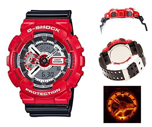 【安心2年保証】G-SHOCK(ジーショック)CASIO(カシオ) GA-110シリーズ アナログ デジタル レッドXブラック 赤色 黒色 GA-110RD-4A DUCATI ドゥカティ [並行輸入品]