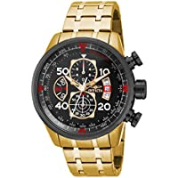 """Invicta Men's 17206""""AVIATOR"""" Stainless Steel Casual Watch"""