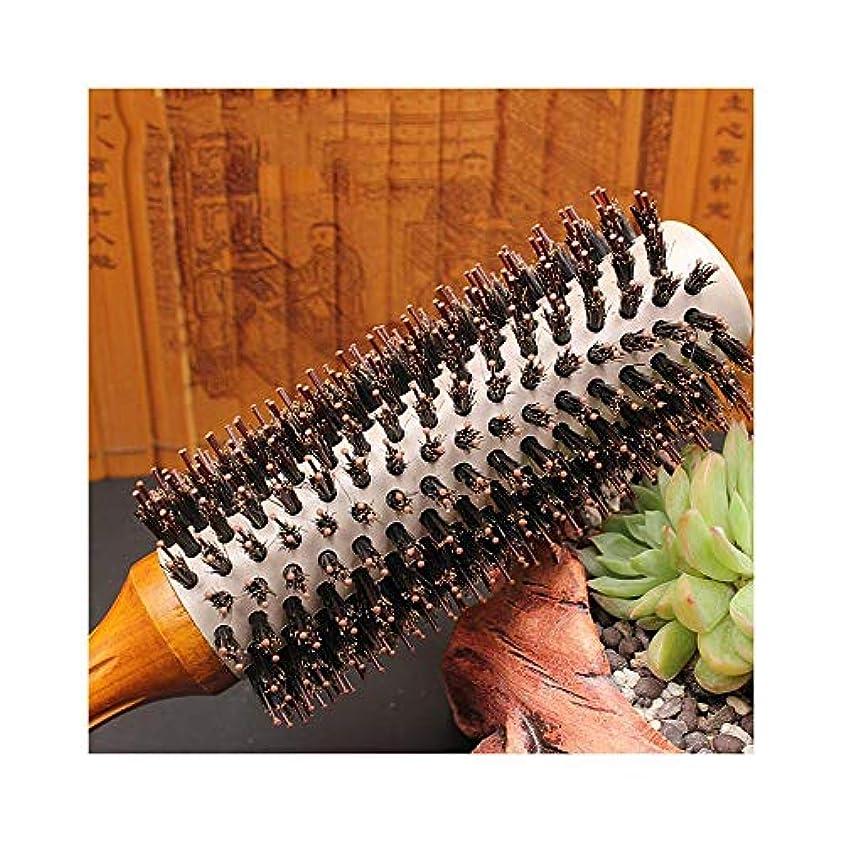 贅沢鹿超高層ビルすべてのヘアスタイルのためにイノシシ毛&ナイロンピン - イノシシ毛ラウンド櫛ドライヘアブラシブロー ヘアケア (サイズ : XL)