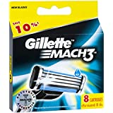 Gillette Mach3 Men's Razor Blades Refill Cartridges, 8 Pack, Mens Razors / Blades, Packaging may vary