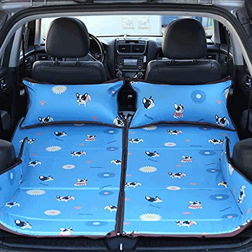 浜辺ヘロイン野菜アウトドアライフ 車のインフレータブルベッド屋外の車のベッド車の後部座席の子供旅行ベッド寝台折りたたみ車用品 (Design : A, PATTERN : 1)