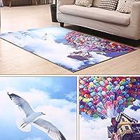 Zytyue 3Dの美しいカラフルな風船ノンスリップカーペット、ベッドルームカーペットドアマットドアマットフロアマット玄関マットホーム長方形カーペット (Size : 120*180cm)