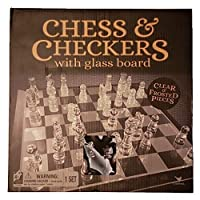 Chess and Checkers with Glass Board [並行輸入品]