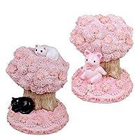 こちらの商品は【 桜と豚・G-5874P 】のみです。 ほのぼのとした猫や豚とさくらの組み合わせが可愛らしい! SAKURA COLLECTION レジン貯金箱 〈簡易梱包