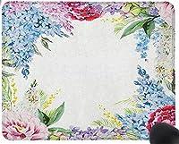 花、春の香りガーランドライラックラベンダーローズ牡丹アートプリントマウスパッド楽しいゲーミングマウスパッド、滑り止めマウスパッド