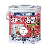 アトムハウスペイント 水性かべ・浴室用塗料(無臭かべ) 0.7L 白