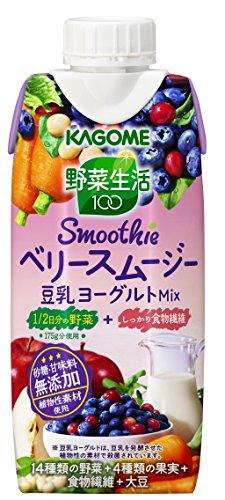 カゴメ 野菜生活100 Smoothie ベリースムージー豆乳ヨーグルトMi...