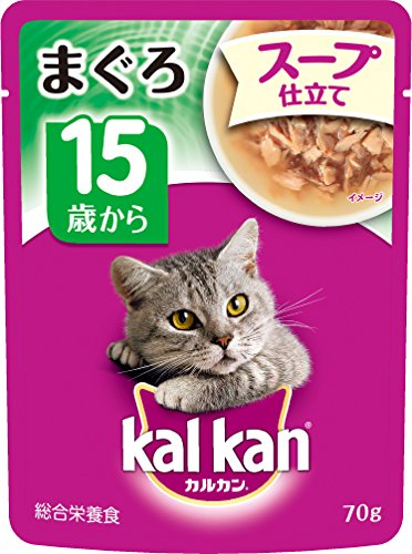 カルカン パウチ スープ仕立て 15歳から まぐろ70g 1箱16袋