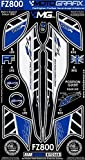MOTOGRAFIX(モトグラフィックス) ボディパッド FZ8 10- REAR ホワイト/ブルー/ブラック MT-RY016B