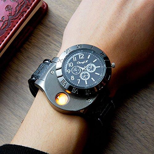 (inkint)腕時計 クォーツムーブメント アナログ表示 シンプル 面白い腕時計 スポーツ腕時計 ファッションデザイン ブラック
