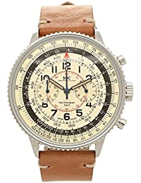 [ゾンネ] 腕時計 SONNE メンズ HI004BK-IV ホワイト シルバー キャメル [並行輸入品]