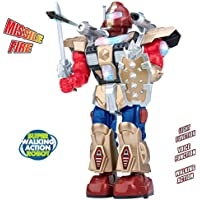 Galactic Space Warrior Walking Action Robot Toy with Missile Fire Function